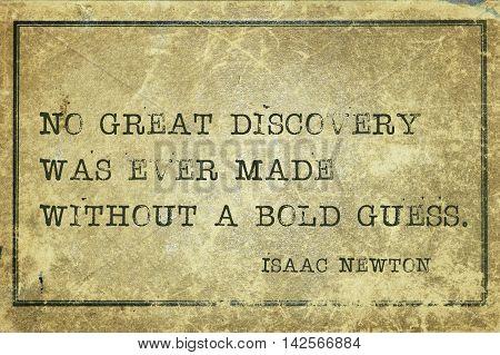 Bold Guess Newton