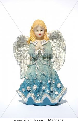 Isolation of a Christmas angel holding