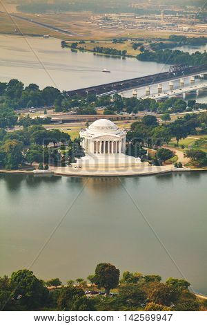 The Memorial of Thomas Jefferson aerial view