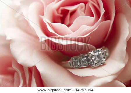 Diamond Ring in Flower
