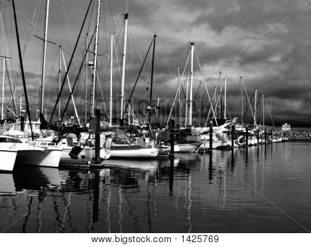 Sailboats At Marina