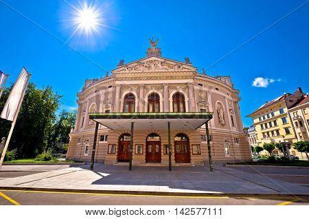 Slovenian national theatre in Ljubljana capital of Slovenia