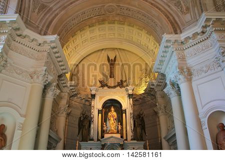 Asuncion, Paraguay - December 26: Interior Of National Pantheon Of The Heroes On December 26, 2014 I