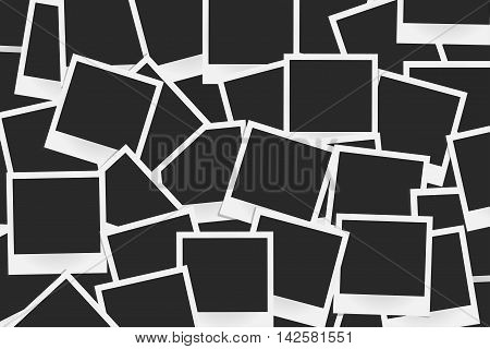 Background Of Realistic Vector Photo Frames. Template Retro Photo Design, Vector Illustration