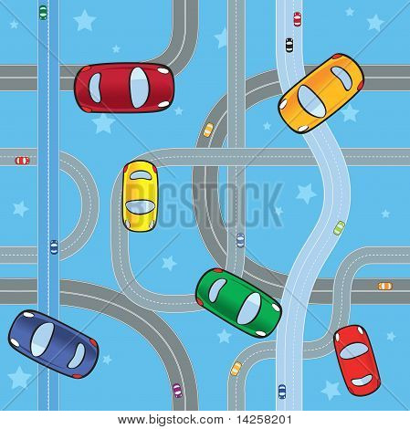 cars on roads