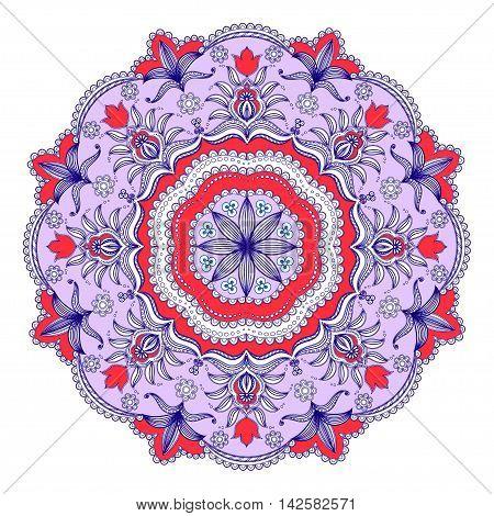 Mandala decoration, isolated design element.