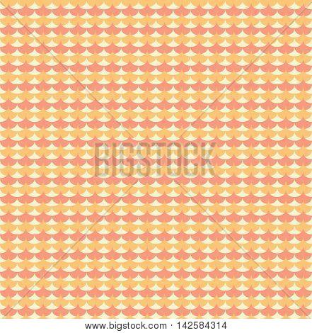 Orange ginkgo biloba leaves seamless pattern. Background seamless in orange color. Vector illustration