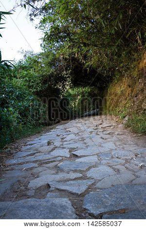 Hiking Trail In Machu Pichu