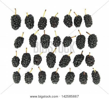 Berry mulberry on a white background isolate