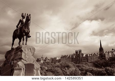 The Royal Scots Greys Monument in Edinburgh.