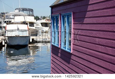 Summer Colors In Float Home Village, Victoria - 4