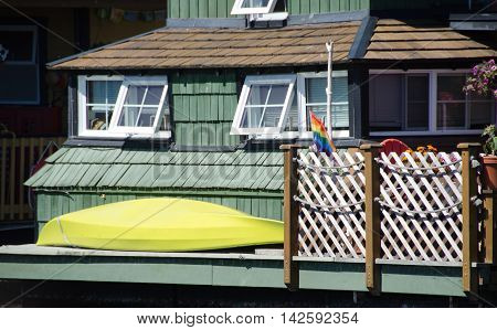 Summer Colors In Float Home Village, Victoria - 6