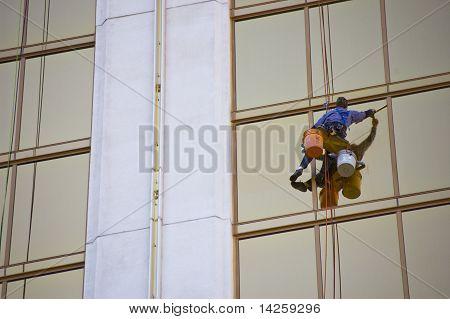 Window Cleaner On Skyscraper