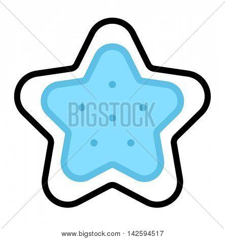 Sea star vector illustration