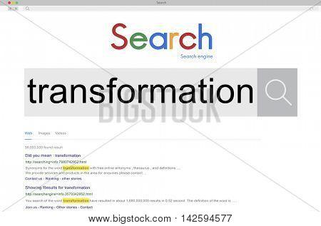 Transformation Change Conversion Transfiguration Alteration Concept