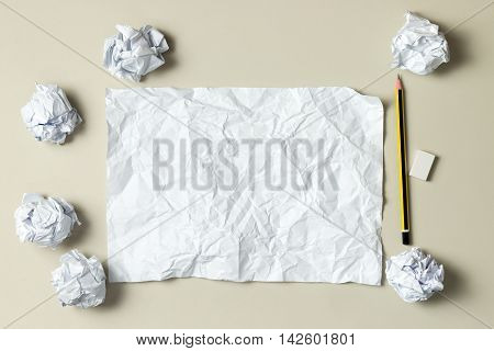 Blank Crumpled Paper
