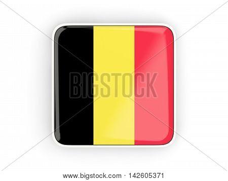 Flag Of Belgium, Square Icon