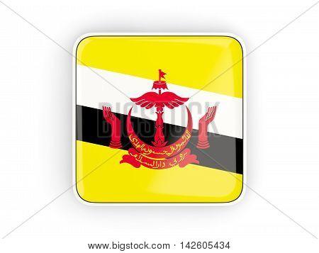 Flag Of Brunei, Square Icon