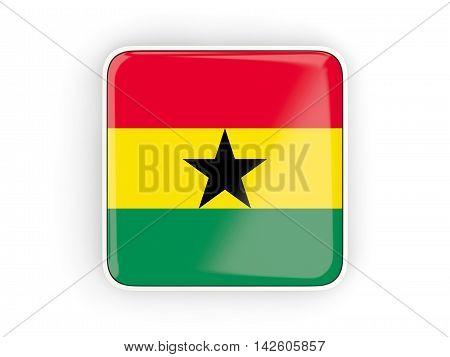 Flag Of Ghana, Square Icon