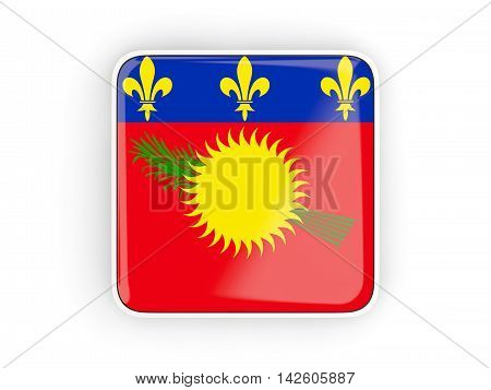 Flag Of Guadeloupe, Square Icon