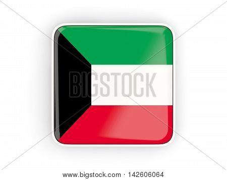 Flag Of Kuwait, Square Icon