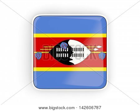 Flag Of Swaziland, Square Icon