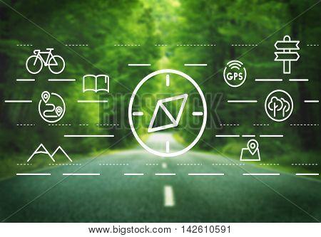 Navigation Navigator Compass Orientation Travelling Concept
