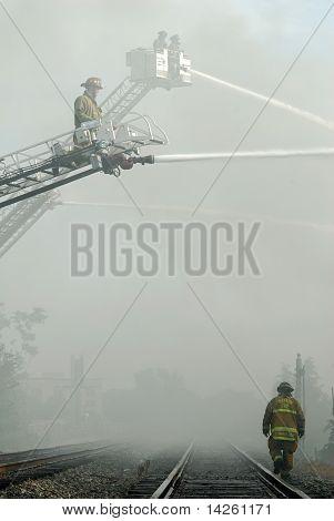 Firefighters in Smoke