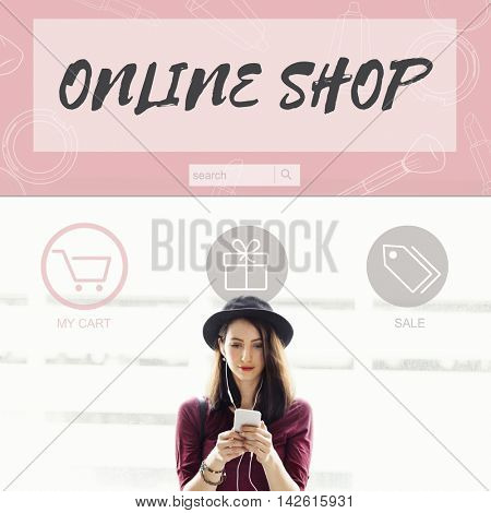 Online Shop Buy Internet Shopping Store Concept