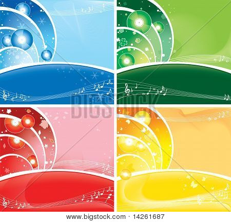 music all the year round. seasonal brightness multicolour background
