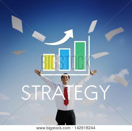 Business Development Growth Bar Chart Concept