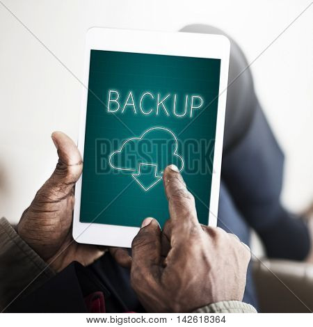 Backup Download Computing Digital Graphic Concept