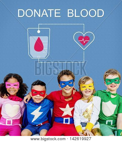 Blood Donation Give Life Transfusion Sangre Concept