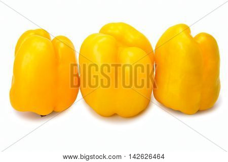 Three Yellow  Peppers