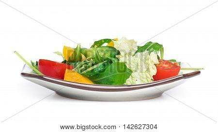 Salad With Vegetables Isolated
