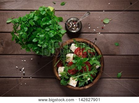 Fresh Vegetable Salad With Feta