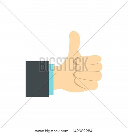 Gesture approval icon in flat style isolated on white background. Gestural symbol