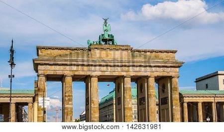 Brandenburger Tor In Berlin Hdr