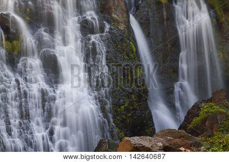 Shaki waterfalls near the city of Tatev in Armenia.