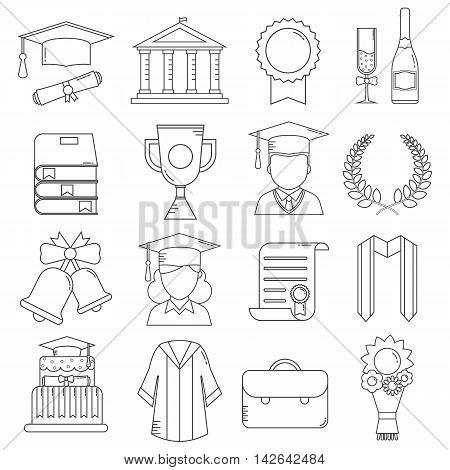 Graduation Line Icons
