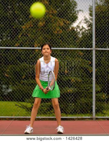 Preteen Tennis Player