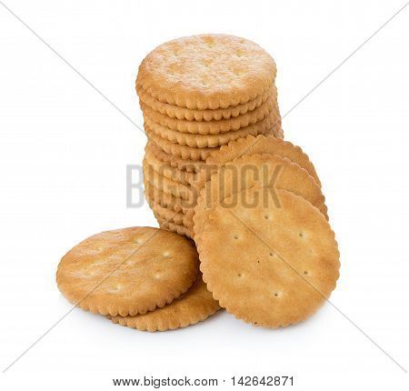 Closeup Biscuits on white background. Biscuits. food
