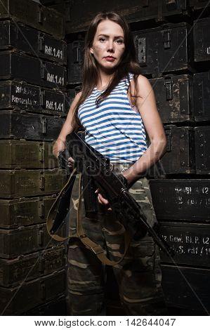 Russian Girl With A Gun