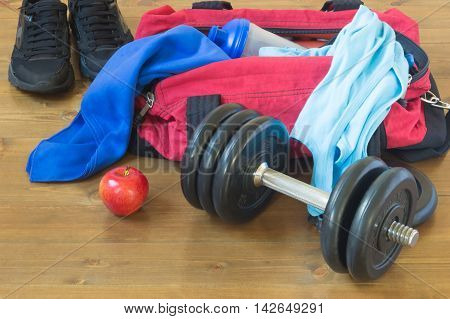 Equipment for sports men, probably forgotten things