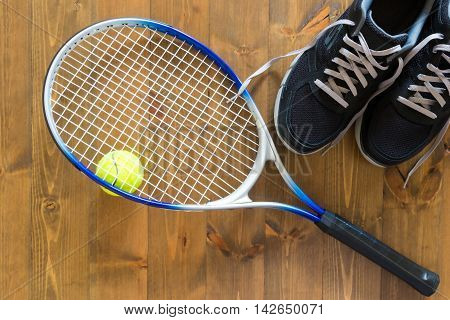 Classic set for practicing big tennis ready