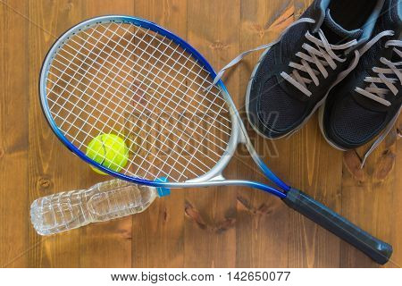 things for the game of tennis on the floor