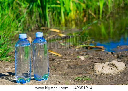 pure water only bottled on the banks of the river