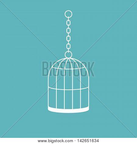 Vector cage icon, flat design, line icon