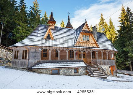 Wiktorowki, Mother Of God Tatras Queen Sanctuary In Winter, Poland