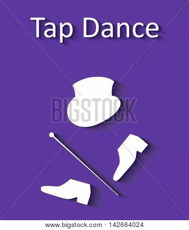 illustration in style of flat design dedicated to the tap dance.